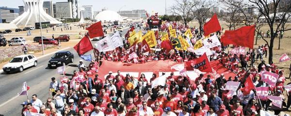 Manifestação em Brasília pelo veto presidencial