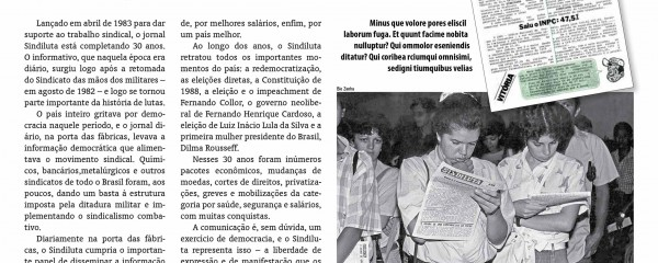 Sindiluta comemora 30 anos